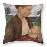 Mother And Child Throw Pillow by Paula Modersohn Becker