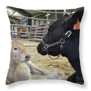 Mother And Child Throw Pillow by To-Tam Gerwe