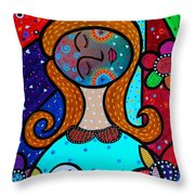 Mother And Child Vii Throw Pillow