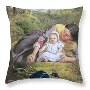 Mother And Child With A Poppy Throw Pillow