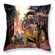 Mother And Children #1 Throw Pillow
