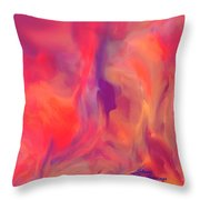 Mother And Daughter Abstract Throw Pillow