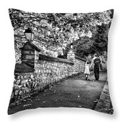 Mother And Daughter-france Throw Pillow