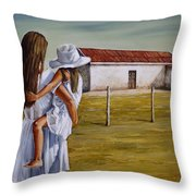 Mother And Daughter Iv Throw Pillow