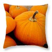 Mother And Daughter Pumpkins Throw Pillow
