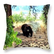 Mother Bear Throw Pillow