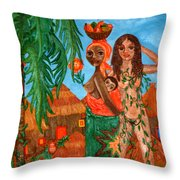 Mother Black Mother White Throw Pillow