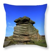 Mother Cap Gritstone Rock Formation, Millstone Edge Throw Pillow