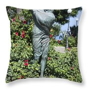 Mother Child Statue Throw Pillow