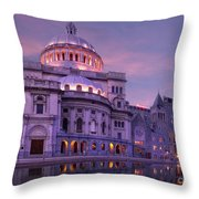 Mother Church And Reflection Throw Pillow