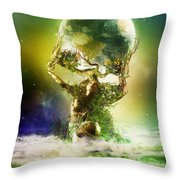 Mother Earth Throw Pillow by Mary Hood