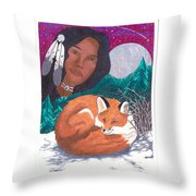 Mother Earth Looking Over Her Children Throw Pillow