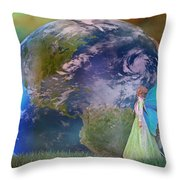 Mother Earth Series Plate3 Throw Pillow