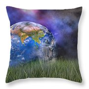 Mother Earth Series Plate4 Throw Pillow