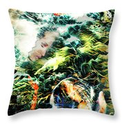 Mother Earth Sister Moon Throw Pillow