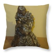 Mother Feeding Baby Throw Pillow