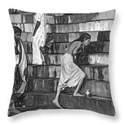 Mother Ganges - Paint Bw Throw Pillow