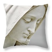 Mother Mary Comes To Me... Throw Pillow by Greg Fortier