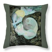 Mother Moon Throw Pillow