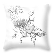 Mother Nature Father Moon Throw Pillow
