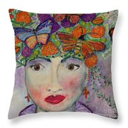 Mother Nature Throw Pillow by Kim Nelson