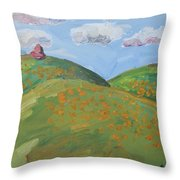 Mother Nature With Poppies Throw Pillow