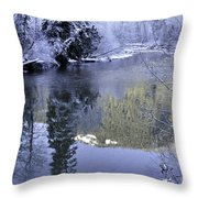 Mother Natures Chilling Touch Throw Pillow
