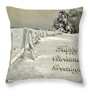 Mother Nature's Christmas Tree Card Throw Pillow