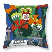 Mother Nature's Helper Throw Pillow by Rojax Art