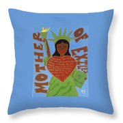 Mother Of Exiles Throw Pillow