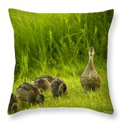 Mother Of Five Throw Pillow
