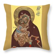 Mother Of God Virgin Of The Don 187 Throw Pillow