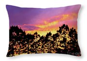 Mother Of Pearl Behind Tree Lace Throw Pillow