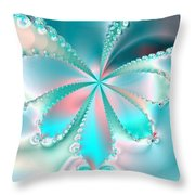 Mother Of Pearl Butterfly Throw Pillow