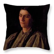 Mother Portrait Of Annie Williams Gandy Throw Pillow