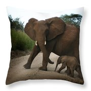 Mother With Baby Throw Pillow