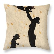 Mother With Children  Throw Pillow