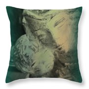 Mother With Infant Throw Pillow