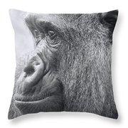 Motherhood Contemplation Throw Pillow