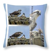 Motherly Love Raptor Style Throw Pillow