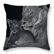 Mothers Arms Throw Pillow