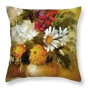 Mother's Bouquet I Throw Pillow