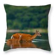 Mother's Courage Throw Pillow