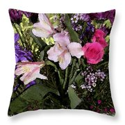 Mothers Day Bouquet Throw Pillow