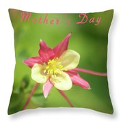 Mothers Day Card 5 Throw Pillow