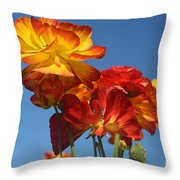 Mother's Day Flowers Throw Pillow