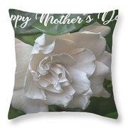 Mother's Day Gardenia Throw Pillow