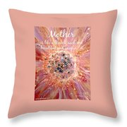 Mothers Day Greeting Card Throw Pillow