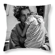 Mothers Day - Mommy Is Home From The War Throw Pillow