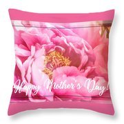 Mother's Day Peony Throw Pillow